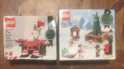 Lego 40263 40206 Bundle Seasonal Christmas Town Square Set - Sealed - Lot Of 2