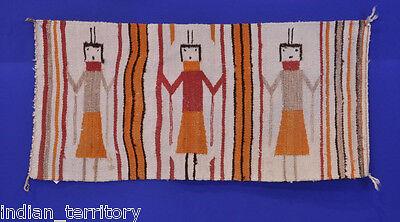 Navajo Indian Yei Rug; Gallup Throw Style