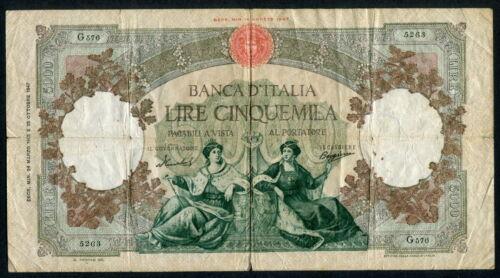 Italy 1947-1963 ( 1955 ), 5000 Lire,P85c, Fine+