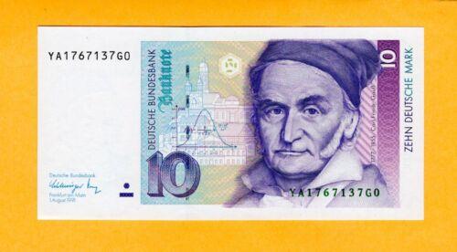 Germany Replacement Banknote UNC 10 Deutsche Mark P-38b* 1991