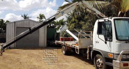 Hino Flat Bed with Fassi Crane, Call 0477 97EMUS