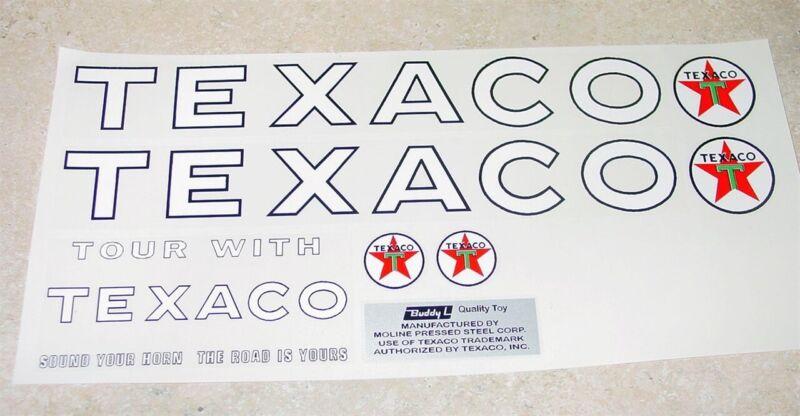 Buddy L Texaco Tanker Semi Sticker Set BL-033
