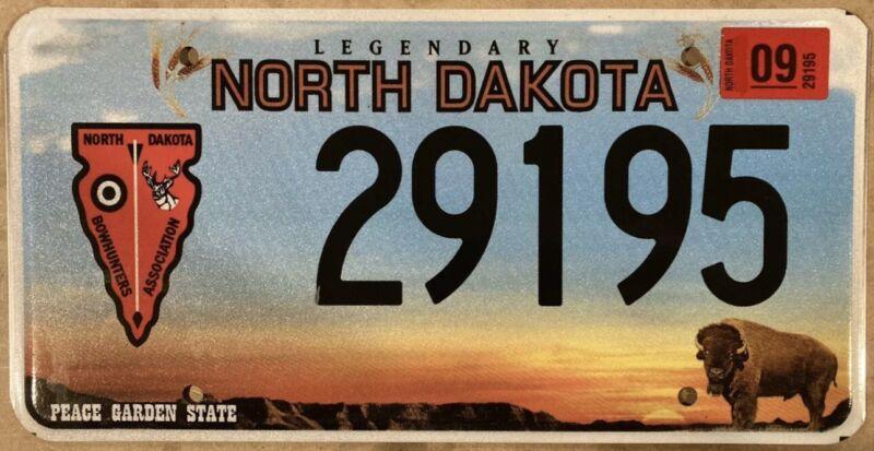 2009 NORTH DAKOTA BOWHUNTERS ASSOCIATION License Plate RARE!!
