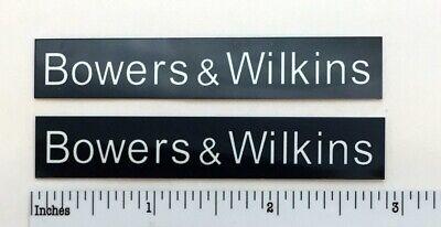 Bowers and Wilkins Speaker Badge Logo Custom Made Aluminum Pair Free Shipping