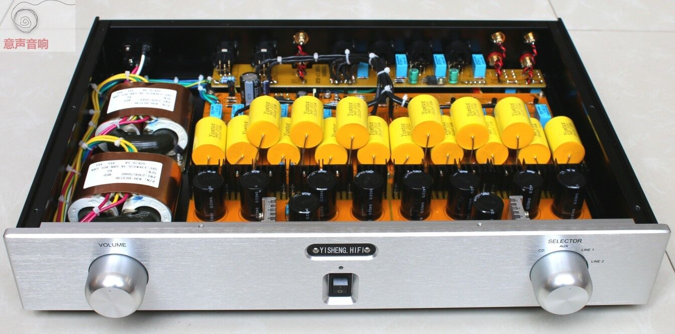 12AU7 Tube Stereo preamplifier  L8-29 5755 Finished Hifi WE420A