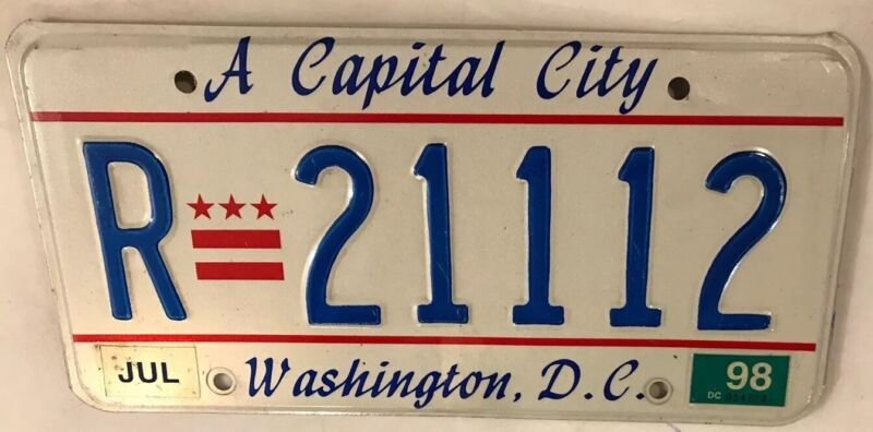 Washington D.C. TRIPLE digit 1 Palindrome license plate repeating number 111 DC