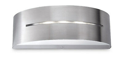 Philips Modern Outdoor IP44 LED Wall Light Silver Finish 3x1w LED 17215/47/16