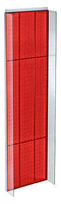 New Retails Red Plastic Pegboard Powerwing Display 14w X 44high