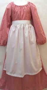 Girls-Colonial-dress-set-Little-House-on-the-Prairie-dress-Pioneer-dress-6-8