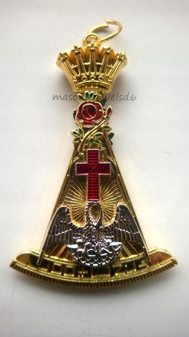 masonic regalia-MASONIC JEWELS-ROSE CROIX 18TH DEGREE COLLAR JEWELBRAND NEW