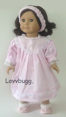 Tiny Pink Stripes Nightgown 18 inch American Girl or 15 inch Baby Doll Clothes