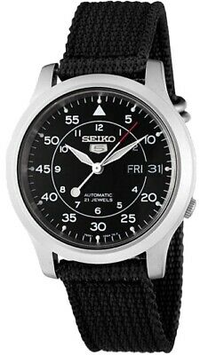 Seiko Men's SNK809 Seiko 5 Automatic Stainless Steel Watch with Black Canvas St