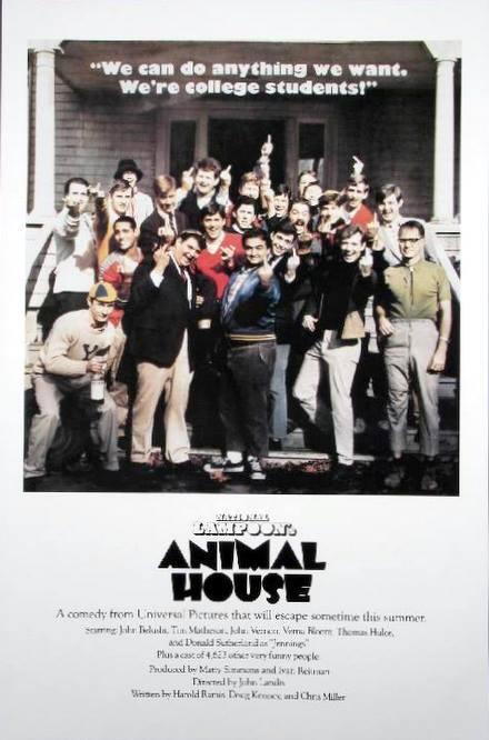 ANIMAL HOUSE MINT MOVIE POSTER GIVING FINGER JAMES BELUSHI JOHN LANDIS 24x36