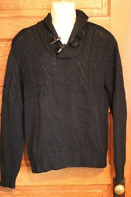 Toys For Infants >> Polo Ralph Lauren Mens Navy Blue Hand Knit Toggle Sweater ...