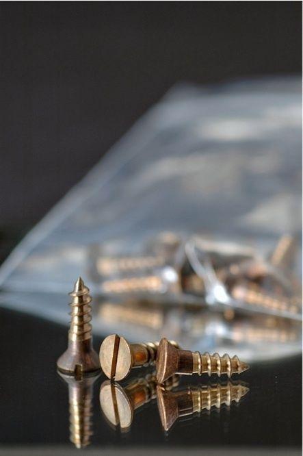 "Wood Screws Slotted Flat Head Bronze #12 x 3/4"" WSB1234"