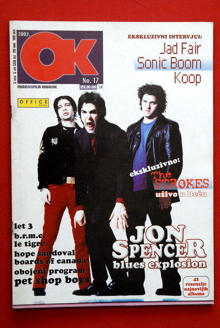 STROKES ON COVER 2002 RARE EXYU MAGAZINE