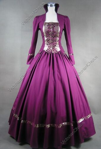 Victorian Renaissance Christmas Holiday Dress Game of Thrones Queen Gown 111