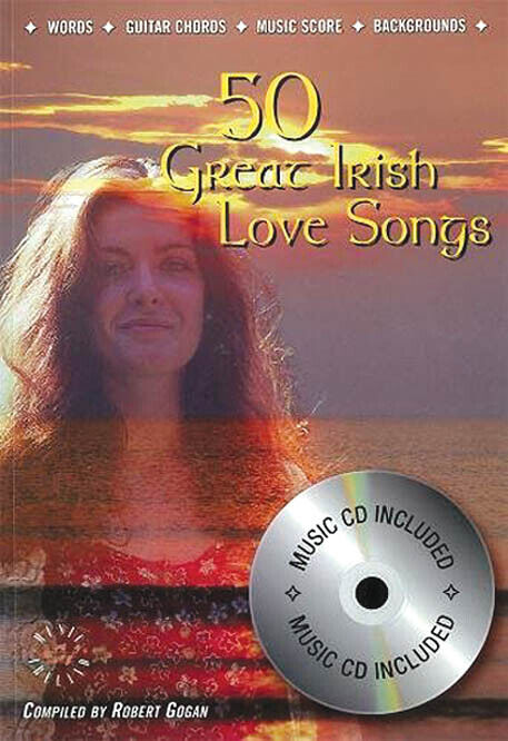 50 Great Irish Love Songs Vocal Sheet Music Melody Lyrics & Chords Book CD Pack