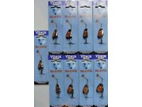 Blue Fox Vibrax Spinners Fishing Mepps Lures Bait Silver Gold Bronze Trout Sea Game