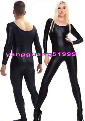 Unisex Black Lycra Spandex Catsuit Costumes Unisex Sexy Bodysuit Costumes F333](Catsuit Costumes)