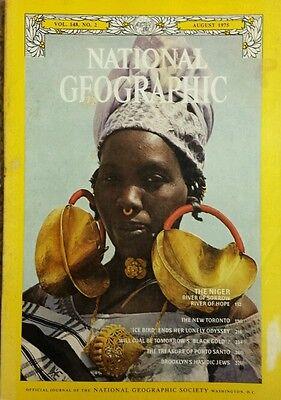 National Geographic Magazine August 1975 Niger  Toronto  Ice Bird  Coal  Jews