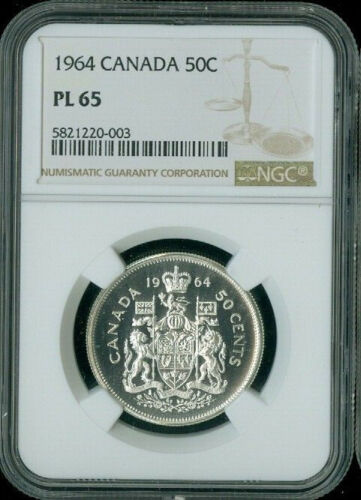 1964 CANADA 50 CENT NGC PL65 *