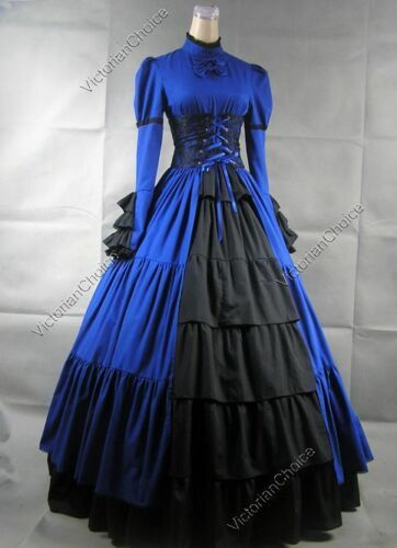 Medieval Renaissance Gothic Corset Dress Steampunk Theater Cosplay Gown 068