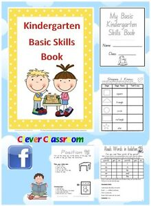 My Basic Skills KINDERGARTEN Book CD - Parents Teachers