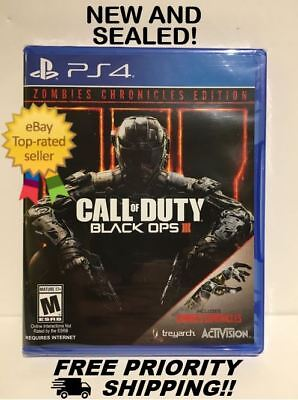 Call Of Duty Black Ops Iii 3   Zombie Chronicles  Sony Playstation 4 Ps4  2017