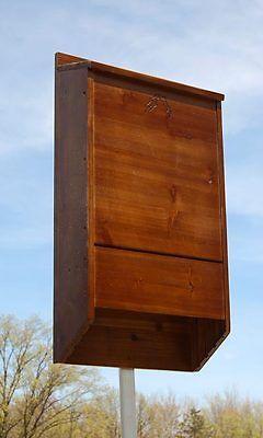New Premium Stained Wooden Bat House Dark Brown by BestNest 400 Bats Backyard