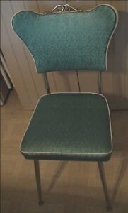 1960's Beautiful Teal Blue 8 Kitchen Chairs