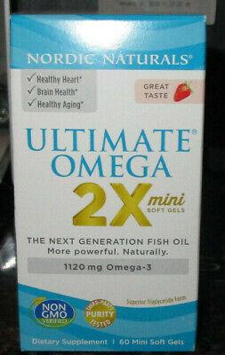 Nordic Naturals Ultimate Omega 2X 60 Mini Softgels Strawberry EXP: 5/21