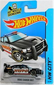 Hot Wheels 1/64 Dodge Charger Drift Police Diecast Car