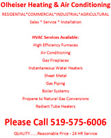 Air Conditioning and Heating Services Available