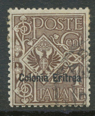 "2154 ITALIAN ERITREA 1903 Eagle with Coat of Arms Italy ""Colonia Eritrea"" 1C VFU"