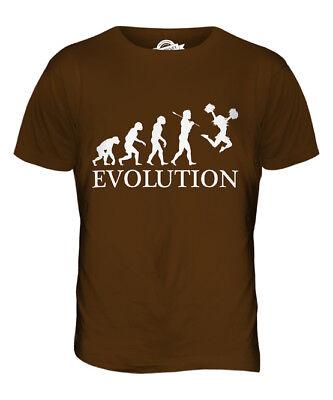 Cheerleader Herren T-shirt (CHEERLEADING CHEERLEADER EVOLUTION DES MENSCHEN HERREN T-SHIRT TEE SHIRT)