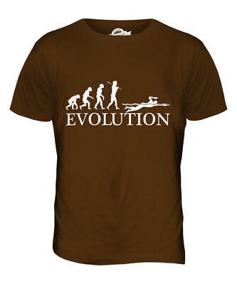 SCHWIMMSPORT SCHWIMMEN EVOLUTION DES MENSCHEN HERREN T-SHIRT TEE SHIRT S M L XL