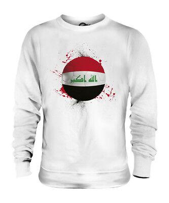IRAK FUßBALL UNISEX SWEATER PULLOVER PULLI SWEATSHIRT HERREN DAMEN