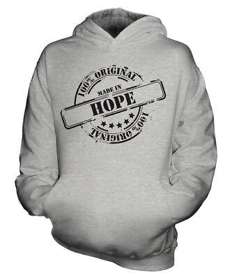 Hope Kids Hoodie (MADE IN HOPE UNISEX KIDS HOODIE BOYS GIRLS CHILDREN TODDLER GIFT)