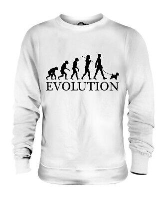 WEST HIGHLAND WHITE TERRIER EVOLUTION DES MENSCHEN UND HUND UNISEX PULLI HERREN West Highland Terrier Sweatshirt