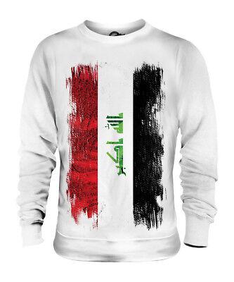 IRAK GRUNGE FLAGGE UNISEX SWEATER PULLOVER PULLI SWEATSHIRT HERREN DAMEN