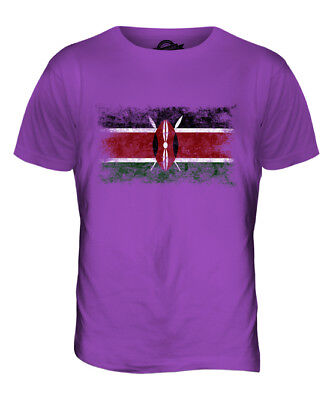 KENIA WEINLESE FLAGGE HERREN T-SHIRT TEE SHIRT XS S M L XL 2XL 3XL 4XL 5XL - Kenia Flagge T-shirt