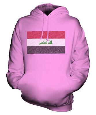IRAK KRITZELTE FLAGGE UNISEX KAPUZENPULLOVER HOODIE PULLI HOODY HERREN DAMEN