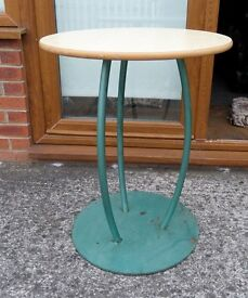 Fantastic Round Metal Quality Table with Formica Top