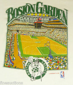 vtg 1990 Boston Celtics Boston Garden NBA Basketball T Shirt XL