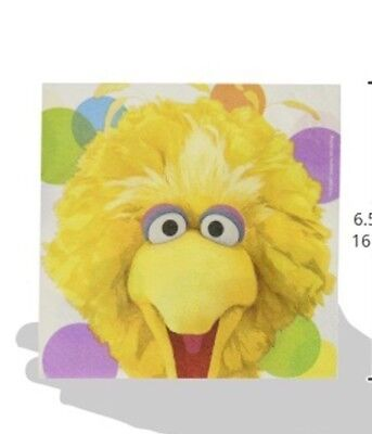 Sesame Street Sunny Days Elmo Big Bird Lunch Dinner Napkins 16 Count Party New