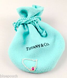 tiffany co elsa peretti pink sapphire color by the yard ring size 65 - Elsa Peretti Color By The Yard Ring