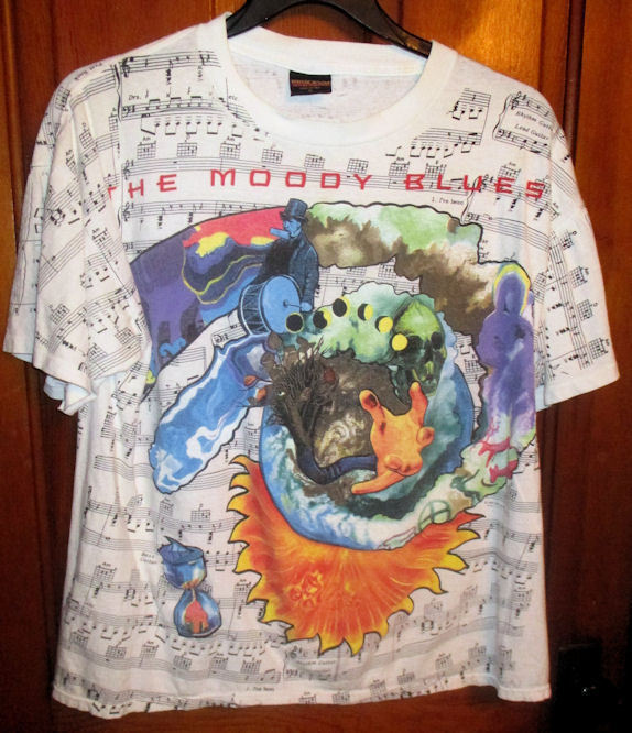RARE Vintage Moody Blues In Search of Lost Cord 1993 Concert Tour Tshirt Size XL