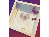 3d box frames - perfect xmas present, baby shower wedding gifts!