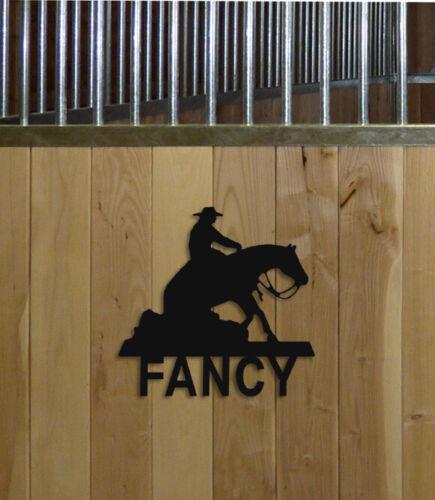COWBOY REINING HORSE STALL SIGN - EQUESTRIAN DECOR - HORSES - SADDLES